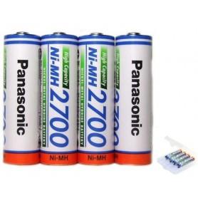 Panasonic - AA 2700mAh Panasonic Rechargeable Battery - Size AA - NK130-CB