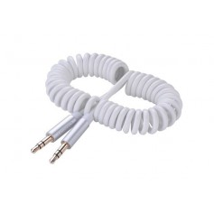 3.5mm Male to Male Stereo Audio Coiled Cable