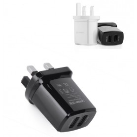 UGREEN - 2.4A / 1A 17W 5V USB Dual Wall Charger UK Plug Black UG154 - Ac charger - UG154