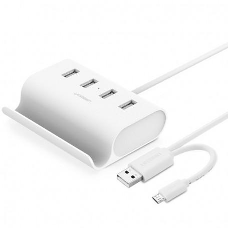 UGREEN - 4 Port Hub USB 2.0 Micro USB OTG with Phone Stand UG035 - Ports and hubs - UG035