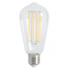 Calex - Vintage LED Lamp 240V 4W 350lm E27 ST64 Clear 2300K Dimmable - Vintage Antique - CA072-CB
