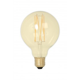 Calex, Vintage LED Lamp 240V 4W 320lm E27 GLB95 GOLD 2100K Dimmable, Vintage Antique, CA078-CB, EtronixCenter.com
