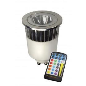 Calex, RGB LED GU10 240V 5W + Remote-Control CA027, GU10 LED, CA027