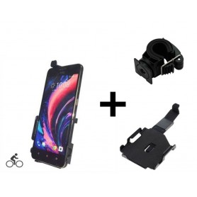 Haicom - Haicom bicycle phone holder for HTC Desire 10 Lifestyle HI-490 - Bicycle phone holder - ON4531-SET