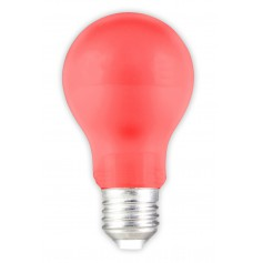 E27 1W Red LED GLS-lamp A60 240V 12lm CA034