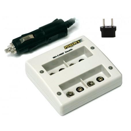 POWEREX - Quatro Maha Powerex MH-C490F for 9V Batteries (EU Plug) - Battery chargers - MH-C490F