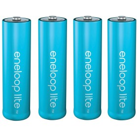 Eneloop, AA R6 Panasonic Eneloop Lite 1.2V 1000mAh Rechargeable Battery, Size AA, NK120-CB, EtronixCenter.com