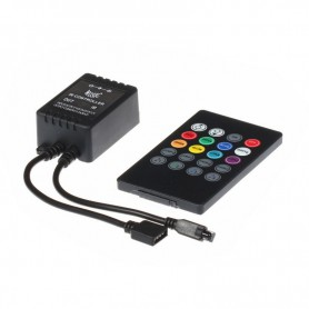 NedRo - 20 Key IR Remote RGB Music LED Controller - LED Accessories - LCR09