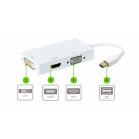 NedRo - 3in1 Mini DP Male to DVI, HDMI and VGA Female - DVI and DisplayPort adapters - AL005-CB