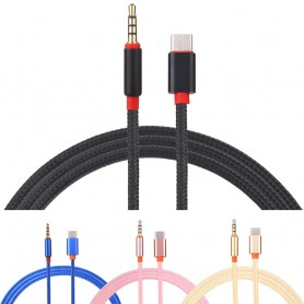 Oem - USB-C Type C Male to 3.5mm Male Jack Audio - USB to Audio cables - AL029-CB