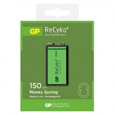 GP - GP 6F22/9V GP ReCyko+ 150 Series 150mAh Rechargeable - Other formats - BL265-CB