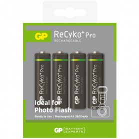 GP - GP R6/AA ReCyko+ Pro Photo Flash 2600mAh Rechargeable - Size AA - BL268-CB