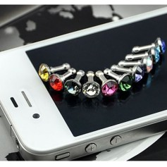 10 Pieces 3.5mm Diamond Dust Cover iPhone Samsung HTC Sony