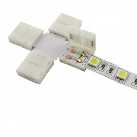 NedRo, 10mm X Connector for 1 color SMD5050 5630 LED strips, LED connectors, LSC26-CB