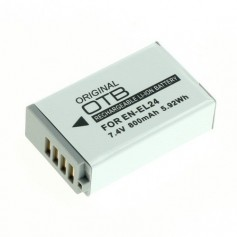 Battery for Nikon EN-EL24 Li-Ion 800mAh