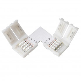 Oem - 10mm L Connector for RGB SMD5050 5630 LED strips - LED connectors - LSC27-CB