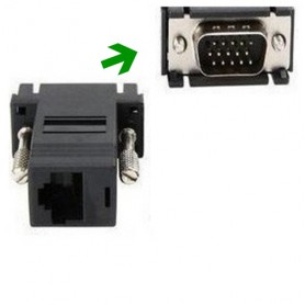 Oem - VGA male Video Extender to CAT5 CAT6 RJ45 Cable Adapter - VGA adapters - AL641