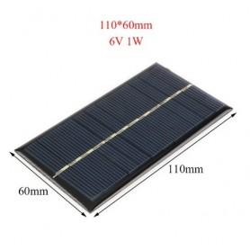 NedRo, 6V 1W 110x60mm Mini solar panel, Solar panels and wind turbines, AL104, EtronixCenter.com