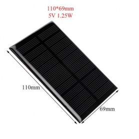 NedRo, 5V 1.25W 110x69mm Mini solar panel, Solar panels and wind turbines, AL111, EtronixCenter.com