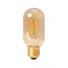 Calex - E27 4W 240V Calex LED Full Glass Filament Tubular-Type lamp 320lm T45L Gold 2100K Dimmable - E27 LED - CA0240-CB