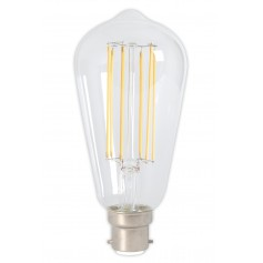 Calex - B22 LongFilament Rustik Lamp 240V 4W 350lm ST64, Clear 2300K Dimmable - Vintage Antique - CA0245