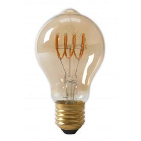 Calex, Calex LED Full Glass Flex Filament GLS-lamp 240V 4W 200lm E27 A60DR, Gold 2100K Dimmable, Vintage Antique, CA0250-CB, ...