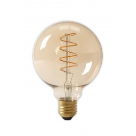Calex, E27 LED Flex Filament Globe Lamp 240V 4W 200lm G125, Gold 2100K Dimmable, Vintage Antique, CA0252-CB, EtronixCenter.com
