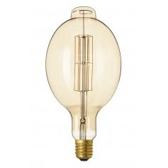 Calex - XXL Calex LED Full Glass LongFilament Colosseum 240V 11W E40 BT180, Gold 2100K Dimmable - Vintage Antique - CA0255