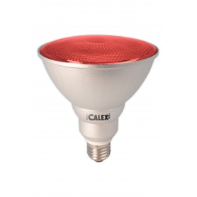 Calex - Red E27 20W 240V AC Calex Sealed Beam E-saving lamp PAR38 - Energy saving lamps - CA0320-CB