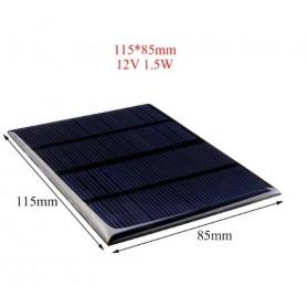 NedRo - 12V 1.5W 115x85mm Mini solar panel - DIY Solar - AL129
