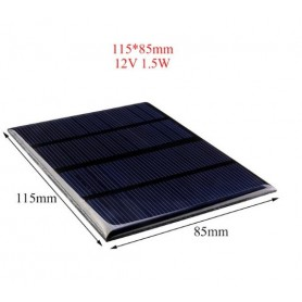 NedRo - 12V 1.5W 115x85mm Mini solar panel - Solar panels and wind turbines - AL129 www.NedRo.us