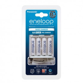 Panasonic, Panasonic USB-Charger Basic BQ-CC61USB incl. 4 eneloop AA, Battery chargers, BQ-CC61USB