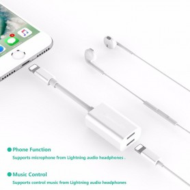 Oem - iPhone 7 / 7 Plus Duo - Audio DataSync Charge cable - iPhone data cables  - AL591-CB