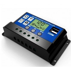 10A DC 12V - 24V PWM Solar charge controller with LCD and 5V USB