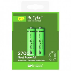 GP, 2pc. GP AA 2600mAh Rechargeable Battery, Size AA, BL269, EtronixCenter.com