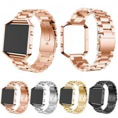 Metal bracelet for Fitbit Blaze with frame
