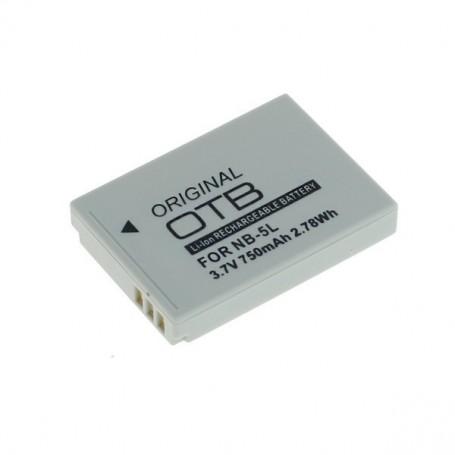 OTB - Battery for Canon NB-5L 3.7V 750mAh Li-Ion - Canon photo-video batteries - ON1390