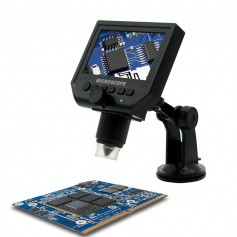 1-600X 3.6MP 4.3 inch HD OLED LCD Digital Microscope with vacuum suction base