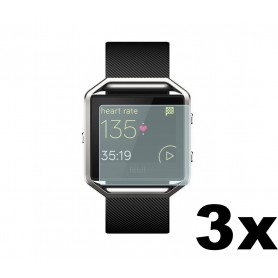 NedRo, 3 pieces - Screen Protector for Fitbit Blaze, Fitbit protective foil / glas, AL529-CB, EtronixCenter.com