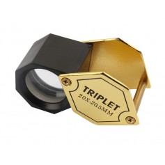 Oem - 20x-zoom Golden Mini Jewelry Loupe Magnifier 20.55mm - Magnifiers microscopes - AL149