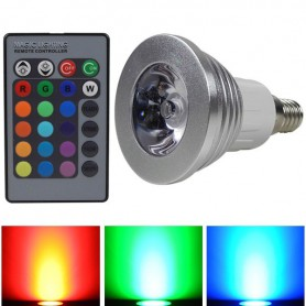 NedRo - E14 3W 16 Color Dimmable LED Bulb with Remote Control - E14 LED - AL151-CB