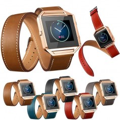 Infinity Leather Bracelet for Fitbit Blaze without Housing