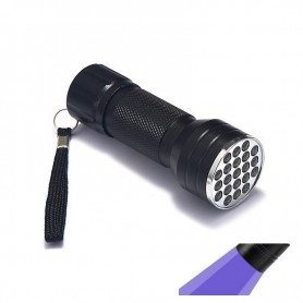 NedRo, Mini UV LED Flashlight Portable 21LED Torch Violet Purple AAA, Flashlights, LFT68, EtronixCenter.com