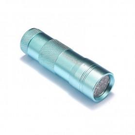 NedRo, Mini 12 LED Aluminium UV Ultra Violet Flashlight purple light, Flashlights, LFT29-CB, EtronixCenter.com