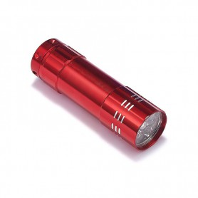 NedRo, Mini 9 LED Aluminium UV Ultra Violet Flashlight purple light, Flashlights, LFT70-CB
