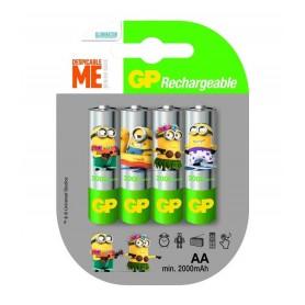 GP - Minion in blister GP ReCyko+ AA 2000mAh Rechargeable Battery - Size AA - NK350-CB www.NedRo.us