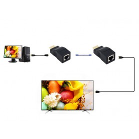 NedRo, 1 Set 30m HDMI / RJ45 extender repeater booster TX/RX 3D Full HD1080P, HDMI adapters, AL163