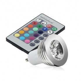 NedRo - GU10 4W 16 Color Dimmable LED Bulb with Remote Control - GU10 LED - AL164 www.NedRo.us