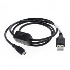 OTB - Charging cable Micro-USB 2.5A with integrated switch 1M - USB to Micro USB cables - ON4899