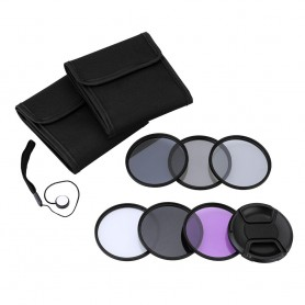 NedRo - Andoer 62mm UV+CPL+FLD+ND(ND2 ND4 ND8) Photography Filter Kit Set - Photo-video accessories - AL165
